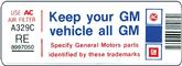 "1980 305 Air Cleaner ""Keep Your GM Car All GM"" Decal (Code ""RE"")"