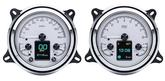 1947-53 GM Truck Dakota Digital HDX Series Gauge Set - Metric Display (KM/H) w/Silver Alloy Gauge Face