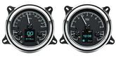 1947-53 GM Truck Dakota Digital HDX Series Gauge Set - Metric Display (KM/H) w/Black Alloy Gauge Face