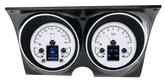 1967-68 F-Body Dakota Digital HDX Series Gauge Set - Standard Display (MPH) w/Silver Alloy Gauge Face