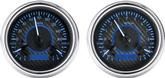 1947-53 GM Pickup VHX Series Gauge Set with Carbon Fiber Look Face and Blue Backlighting