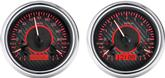 1947-53 GM Pickup VHX Series Gauge Set with Carbon Fiber Look Face and Red Backlighting