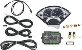 1955-56 Chevrolet Dakota Digital VHX Analog Gauge Set with Silver Alloy Face and Red Illumination
