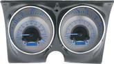 1967-68 Camaro / Firebird Dakota Digital VHX Dash Gauges Silver Alloy Face/Blue Illumination