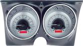 1967-68 GM F-Body - Dakota Digital VHX Dash Gauge Set with Silver Alloy Face and Red Illumination