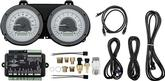1967-68 Camaro / Firebird Dakota Digital VHX Dash Gauges Silver Alloy Face/White Illumination