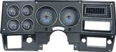 1973-87 GM Pickup VHX Series Gauge Set with Carbon Fiber Look Face and Blue Backlighting