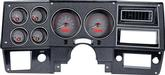 1973-87 GM Pickup VHX Series Gauge Set with Carbon Fiber Look Face and Red Backlighting