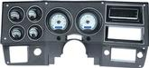 1973-87 GM Pickup VHX Series Gauge Set with Silver Alloy Face and Blue Backlighting
