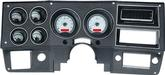 1973-87 GM Pickup VHX Series Gauge Set with Silver Alloy Face and Red Backlighting