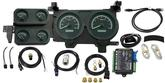 1973-87 GM Pickup VHX Series Gauge Set with Black Alloy Face and Blue Backlighting