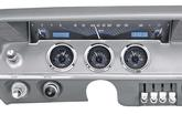 1961-62 Impala / Full-Size VHX Gauge System with Carbon Fiber Look Face and Blue Illumination