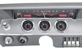 1961-62 Impala / Full-Size VHX Gauge System with Carbon Fiber Look Face and Red Illumination