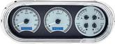 1963-65 Nova Dakota Digital VHX Dash Gauge Set with Silver Alloy Face and Blue Illumination