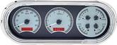 1963-65 Nova Dakota Digital VHX Dash Gauge Set with Silver Alloy Face and Red Illumination