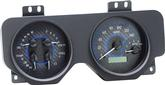 1969 Firebird Dakota Digital VHX Gauge Set with Carbon Fiber Look Face and Blue Illumination