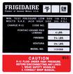 74 FRIGIDAIRE AIR CONDITION COMPRESSOR DECAL