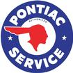PONTIAC INDIAN HEAD SERVICE DECAL MEASURES 9 1/2 IN DIAMETER