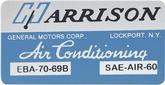 1969 Harrison Ac Evaporator Box Decal
