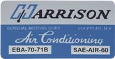 71 FIREBIRD HARRISON AIR CONDITION DECAL