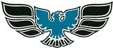 1970-72 Firebird / Trans AM Blue Front Bumper Bird Decal