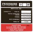 1978 Firebird Black and Red Frigidaire AC Compressor Decal Model #1131086