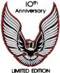 1979 Trans-Am Silver / Red Rear Spoiler 10th Anniversary Bird Decal