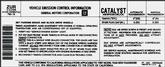87 5.0 F Automatic & Manual Trans California Emissions Decal (Zur)