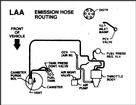 91 3.1 EMISSIONS HOSE ROUTING DECAL (LAA)