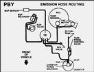92 5.0 E EMISSIONS HOSE ROUTING DECAL  PBY