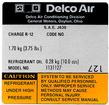 79 Delco AC Compressor Decal #1131127