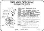 67-69 Spare Tire Lock Instruction