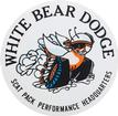 "3-1/2"" White Bear Dodge Decal"