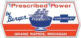 Berger Chevrolet Prescribed Power Decal