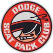 6 DODGE SCAT PACK CLUB WINDOW DECAL