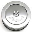 6 EDELBROCK SIGNATURE SERIES CHROME AIR CLEANER  WITH LOGO AND 2 ELEMENT