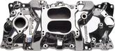 1955-86 Chevrolet Small Block without EGR Edelbrock Performer Polished Finish 4 bbl Intake Manifold
