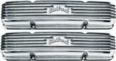 1959-86 Chevrolet Small Block Classic Polished Aluminum Finned Valve Covers