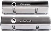 1959-86 Chevrolet Small Block Edelbrock Elite II Series Tall Profile Valve Covers With Logo