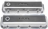 1965 & Later Chevrolet Big Block Edelbrock Elite II Series Standard Profile Valve Covers With Logo