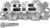 1958-65 Chevrolet 348/409 Large port Performer RPM Dual Quad Intake Manifold With Satin Finish