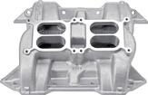 Mopar 413 / 426 / 440 Without EGR Edelbrock Ch-28 Dual Quad Intake Manifold With Natural Finish