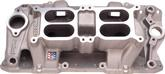1955-86 Chevy Small Block  W/O Egr Edelbrock RPM Dual-Quad Air Gap Natural Finish  Intake Manifold