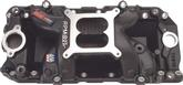 Performer RPM Air Gap Black Manifold Big Block Oval port-Non-Egr