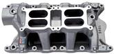 Edelbrock RPM Air Gap Dual-Quad 1500-6500 RPM Intake Manifold with Satin Finish