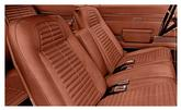 11967- 69 Firebird Standard & Deluxe Front & Rear Upholstery Set With Fixed Rear Seat - Red