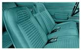 68 Firebird With Fixed Rear Seat - Standard Full Upholstery Set - Turquoise