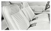 68 Firebird Standard Full Upholstery Set With Fixed Rear Seat - Pearl Parchment