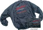 BLACK SATIN JACKET HEARTBEAT OF AMERICA YESTERDAY'S CHEVROLET (XXL)