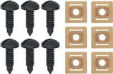 1982-92 Rear Hatch Screw And Nut Set Black